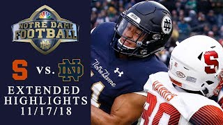 Download Syracuse vs. Notre Dame | EXTENDED HIGHLIGHTS | 11/17/18 | NBC Sports Video