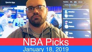 Download NBA Picks (1-18-19) | Basketball Sports Betting Expert Predictions | Vegas Odds | January 18, 2019 Video