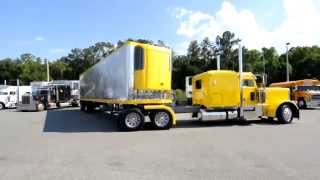 Download Professional driver jackknifing a 53 foot trailer into a parking space. Video