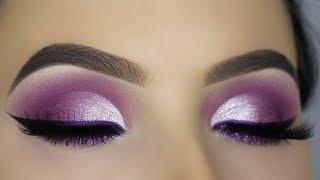 Download PURPLE GLAM Cut Crease Makeup Tutorial! Video