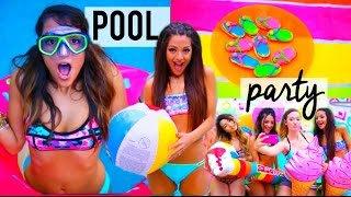 Download Summer POOL PARTY! DIY decor, treats, ideas + things to do | Niki and Gabi Video