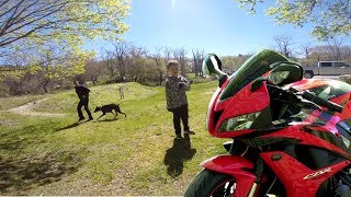 Download Little Kid loves my CBR600RR (His mom liked it too) Video