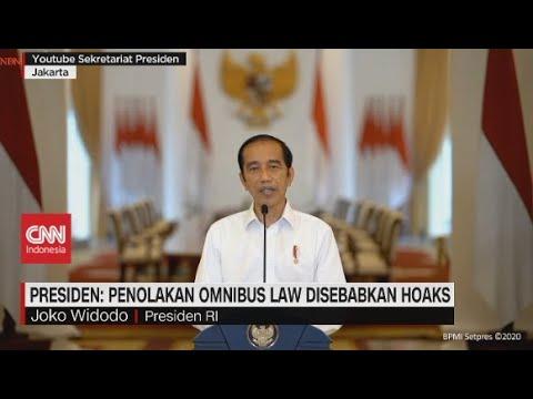Presiden: Penolakan Omnibus Law Disebabkan Hoaks