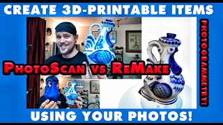 Download Create 3D-Printable Items Using Your Photos! (PhotoScan vs ReMake) Video