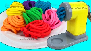 Download Learn Colors with Play Doh Pasta Spaghetti Making Machine Toy Appliance and Surprise Toys Video