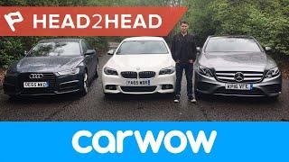 Download Mercedes E-Class vs BMW 5 Series vs Audi A6 Saloon 2017 review   Head2Head Video