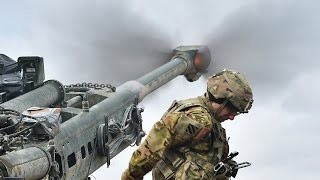 Download US Soldiers Intense Live Fire Action With the Devastating M777 Howitzer Video