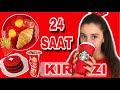 Download 24 SAAT BOYUNCA TEK RENK HERŞEY KIRMIZI !!! (Kırmızı Yumurta-Kırmızı Su-Kırmızı Yoğurt) Video