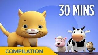 Download Old Macdonald | Animal Learning Songs | 3D Nursery Rhymes for Kids and Children I 30 Mins Baby Songs Video