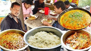 Download Hard Working Young Man Cooking and Selling Best Roadside Food | Maruthi Biryani Point in Hyderabad Video