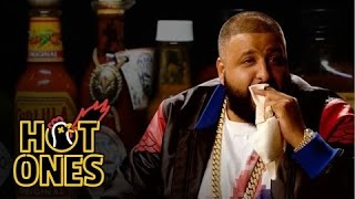 Download DJ Khaled Talks Fuccbois, Finga Licking, and Media Dinosaurs While Eating Spicy Wings   Hot Ones Video