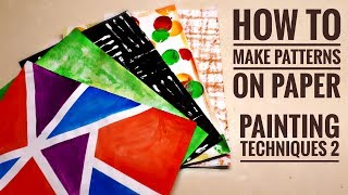 Download DIY Printed Papers #2 | Painting Techniques | How to make patterns on paper Video