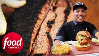 Download Guy Fieri Tries Fried Chicken Sandwich And Smoked Pork Belly!   Diners, Drive-Ins & Dives Video