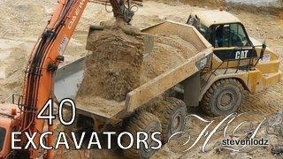 Download 40 Máy đào xúc - Cần cẩu, xe tải, máy xúc, máy ủi, xe lu Video