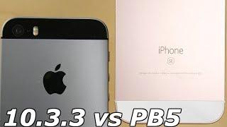 Download iPhone SE iOS 10.3.3 vs iPhone SE iOS 11 Public Beta 5! Video