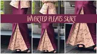 Download How To Sew Inverted Pleat Skirt | Cara Jahit Kain Kipas Balakang Video