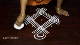 Download geethala muggulu with 5x1 dots    simple kolam designs    easy rangoli designs Video