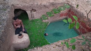Download Build The Amazing Secret Ancient Underground With Underground Deep Pool Video