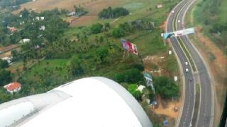Download Aerial View of Periyar River & Landing at Kochi Airport Video