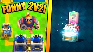 Download FUNNY CLAN BATTLES :: Clash Royale :: LEGENDARY CARD FROM GIANT CHEST OPENING! Video