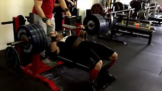 Download Marc Lobliner 405lb Bench Press with Mark Bell   Big Chest with the SlingShot Video