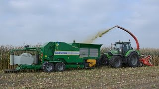 Download Unieke AGRONIC haksel-perswikkelcombi Trekkerweb Field harvesting, baling & wrapping in one pass Video