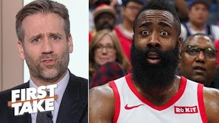Download 'James, why do you make me do this?' – Max blames Harden for Rockets' loss to Warriors | First Take Video