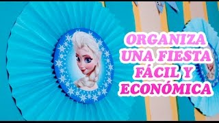 Download Ideas fáciles y económicas para fiesta de Frozen Disney | Easy ideas for Frozen Disney party Video