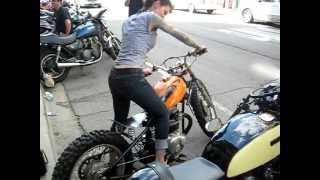 Download Priscilla rockin my Honda Dirt Bike Bobber Video