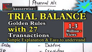 Download Trial balance in accounting with [ 3 GOLDEN RULES ] simple tutorial :- by kauserwise Video