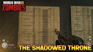 Download WW2 ZOMBIES - THE SHADOWED THRONE MAIN EASTER EGG HUNT!!! (Call of Duty WW2 Zombies) Video