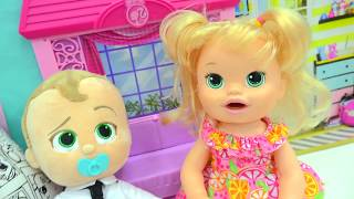 Download Toilet Potty Training Babies - Babysitting The Boss Baby Talking Movie Doll + Baby Alive Video