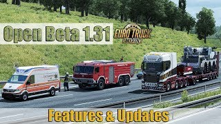 Download ✅ ETS2 Open Beta 1.31- Mighty Griffin DLC | 8x4 Chassis Scania R/S | Power/air lines | Random Events Video