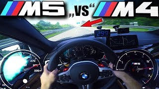 Download M5 F90 chasing tuned M4 on German Autobahn at over 300km/h (186 MPH) ✔ Video