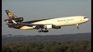 Download Beautiful evening Plane spotting at Cologne Bonn airport - MD-11F, 747, A300, etc. Video
