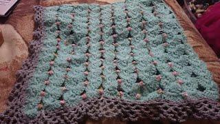 Download Cobija tejida a crochet con flores Muy bnita, fácil y rápido Video