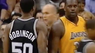 Download David Robinson (Age 35) Defense on Shaq - 2001 NBA WCF Video