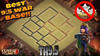 Download WORLD'S BEST TOWN HALL 9.5 (TH9.5) ANTI 3 STAR [2017] WAR BASE!! |Clash of Clans Video