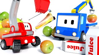 Download The Juice Factory - Tiny Trucks for Kids with Bulldozer, Excavator and Crane Truck for Children Video