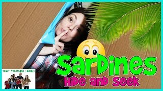Download SARDINES Hide and Seek In NEW Box Fort Ball Pit / That YouTub3 Family Video