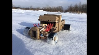 Download How to make RC Car Hot Rod from Cardboard at Home - Amazing DIY Video