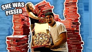 Download ORDERING 200 GIANT PIZZAS TO MY MOMS HOUSE PRANK (SHE FREAKS OUT) Video