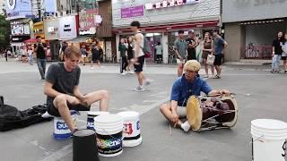Download 세계 최고 바켓 드러머와 즉흥 연주한 장구 연주자 Video