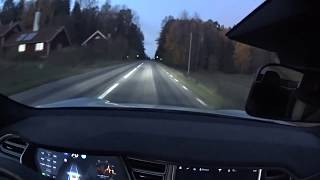 Download Tesla on winding road Autopilot 2.0 at sunset - Curve of death Video