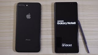 Download iPhone 8 Plus vs Galaxy Note 8 - Speed Test! (4K) Video