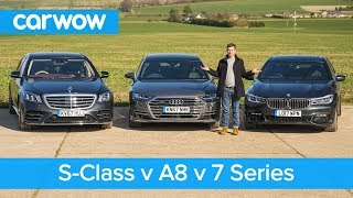Download Mercedes S-Class vs Audi A8 vs BMW 7 Series review - which is the best? | carwow Video