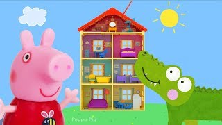 Download Peppa Pig Toy Collection | Crocodile Hiding in Peppa Pig Playset, PJ Masks, Paw Patrol Toys and More Video