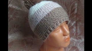 Download Вяжем простую шапочку спицами. hat knitting Video