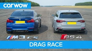 Download BMW M3 CS vs Audi RS4 - review & DRAG RACE, ROLLING RACE & BRAKE TEST Video