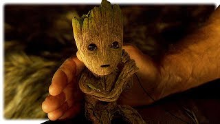 Download Guardians of the Galaxy 2 Teen Groot , Baby Groot & Star Lord All Scenes (2017) Video